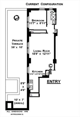 New York City Real Estate | View 269 West 72nd Street, 1C | Floorplan