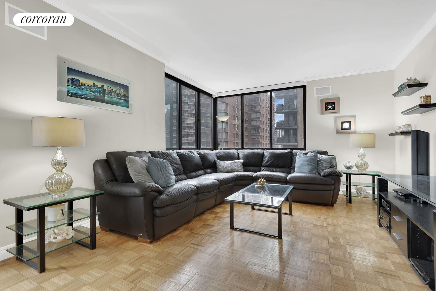 250 East 40th Street, 29B, Separate dining area leading to balcony