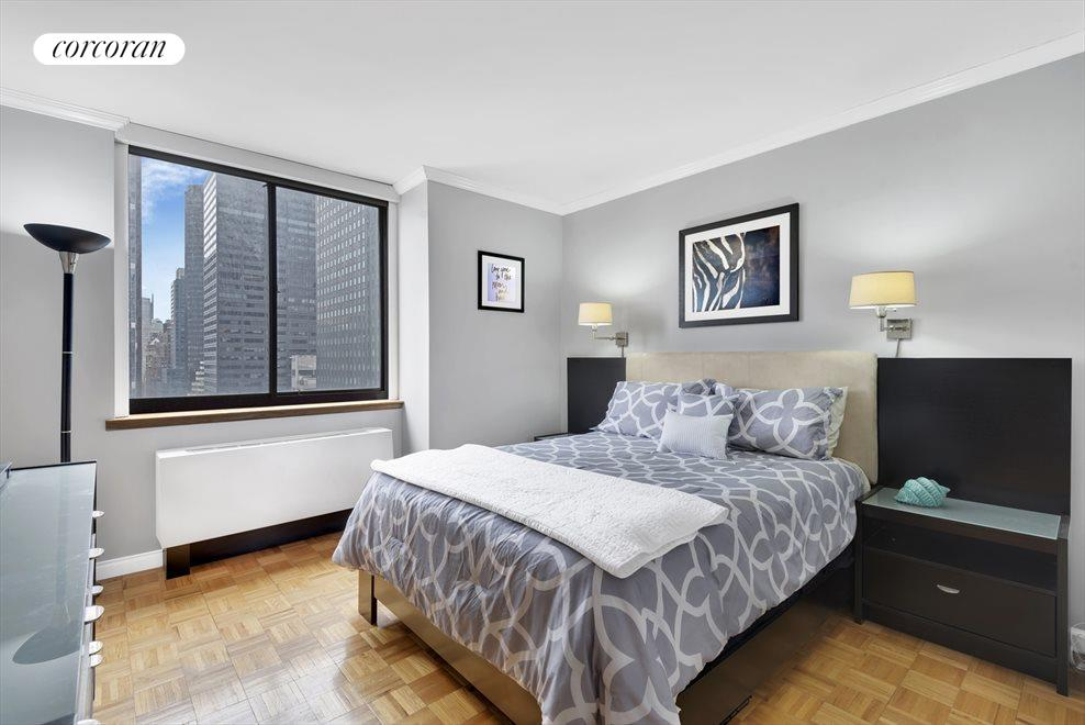 Master bedroom is spacious and sunny