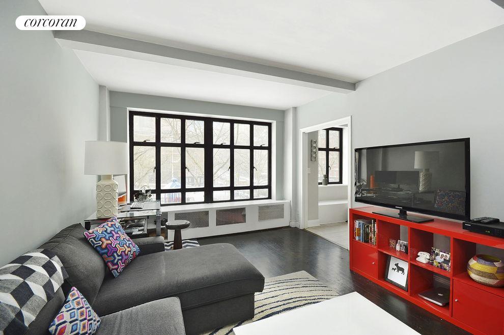 Prewar living room with large casement wLiving Roo