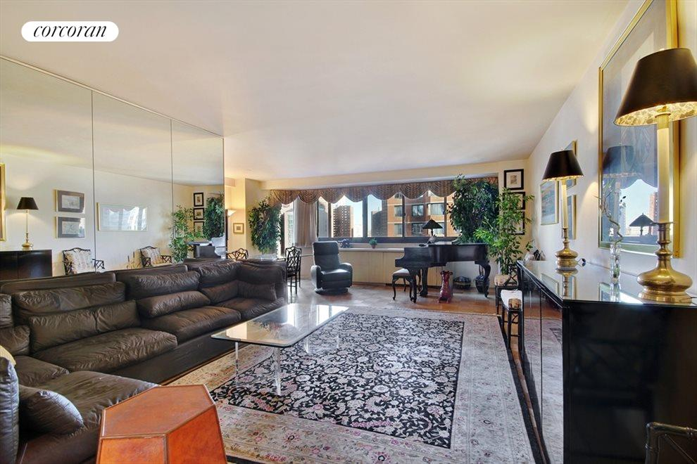 Spacious Living Room with Large Separate Dining
