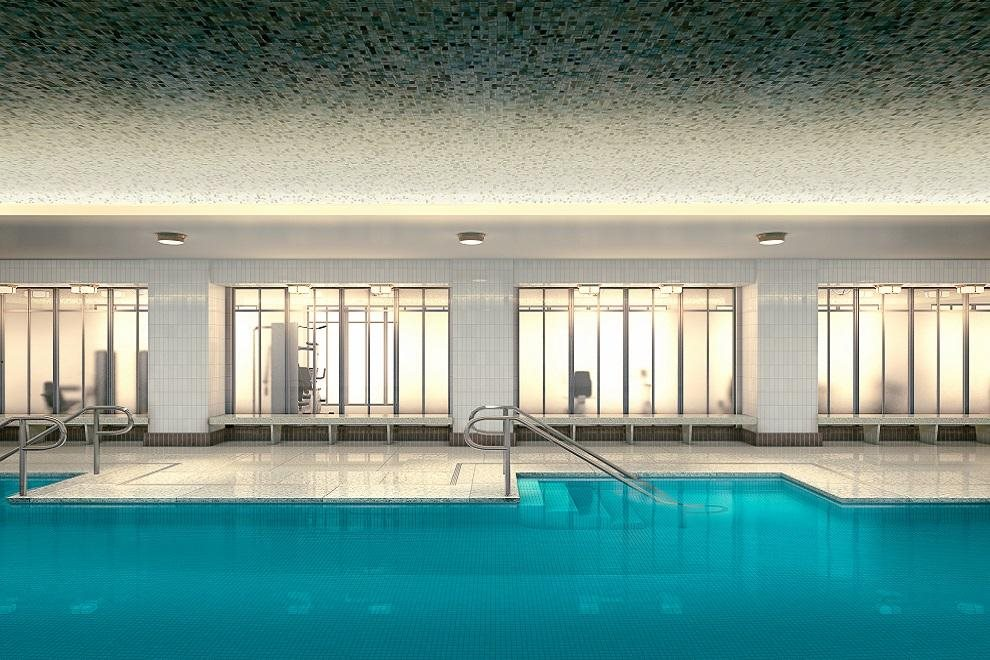 New York City Real Estate | View 150 West 12th Street, #7 W | Wellness center with steam rooms