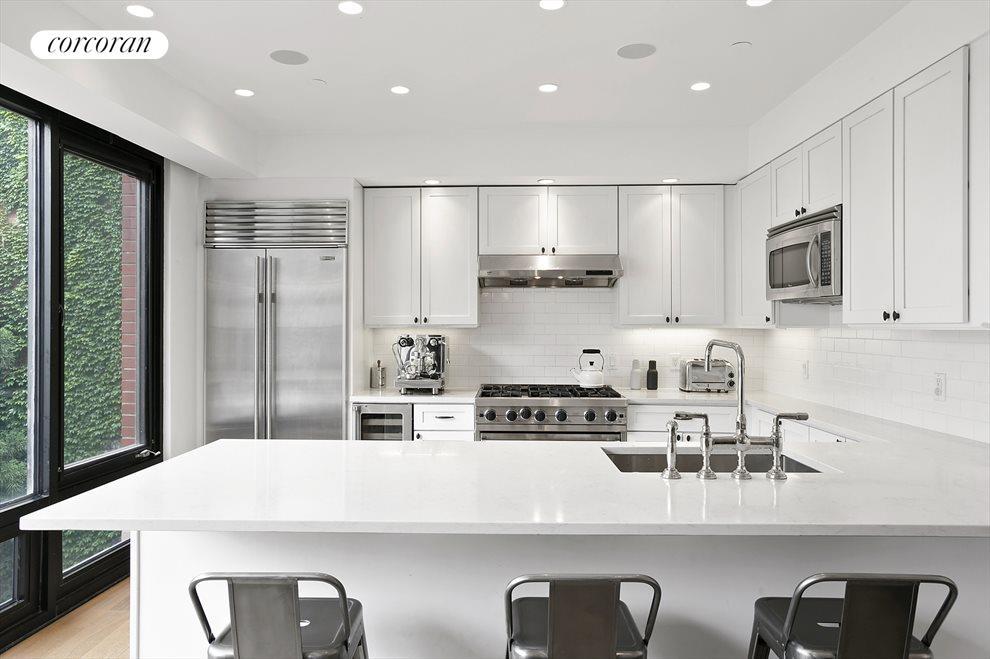 Bright and White Kitchen