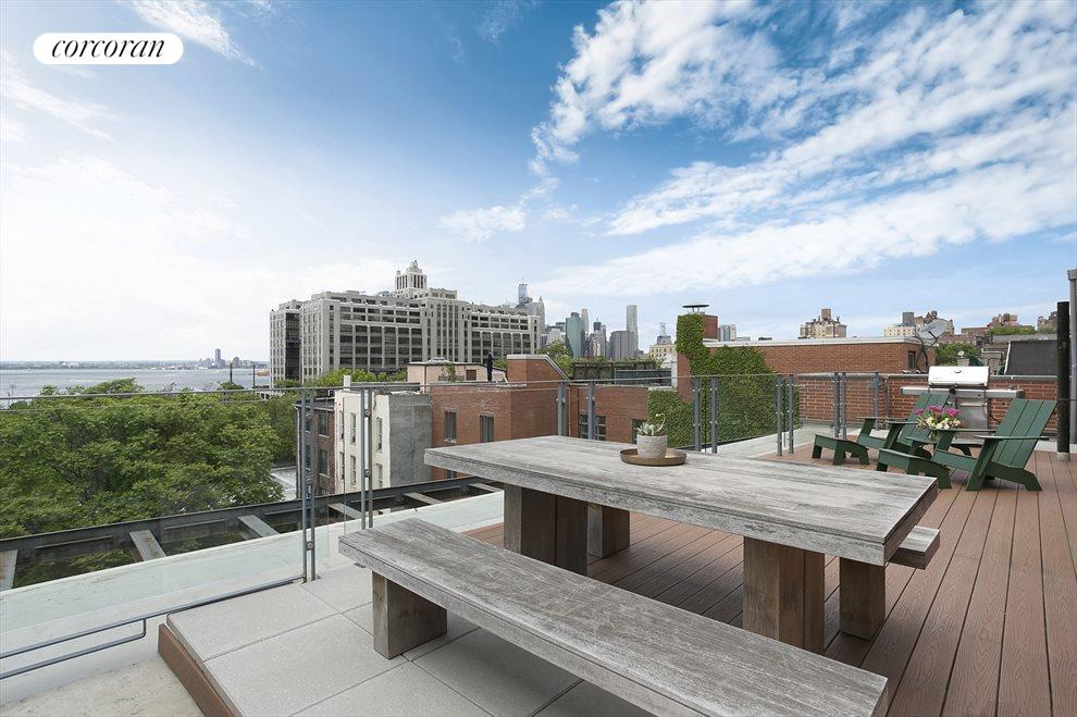 Roof Deck with City and Harbor Views