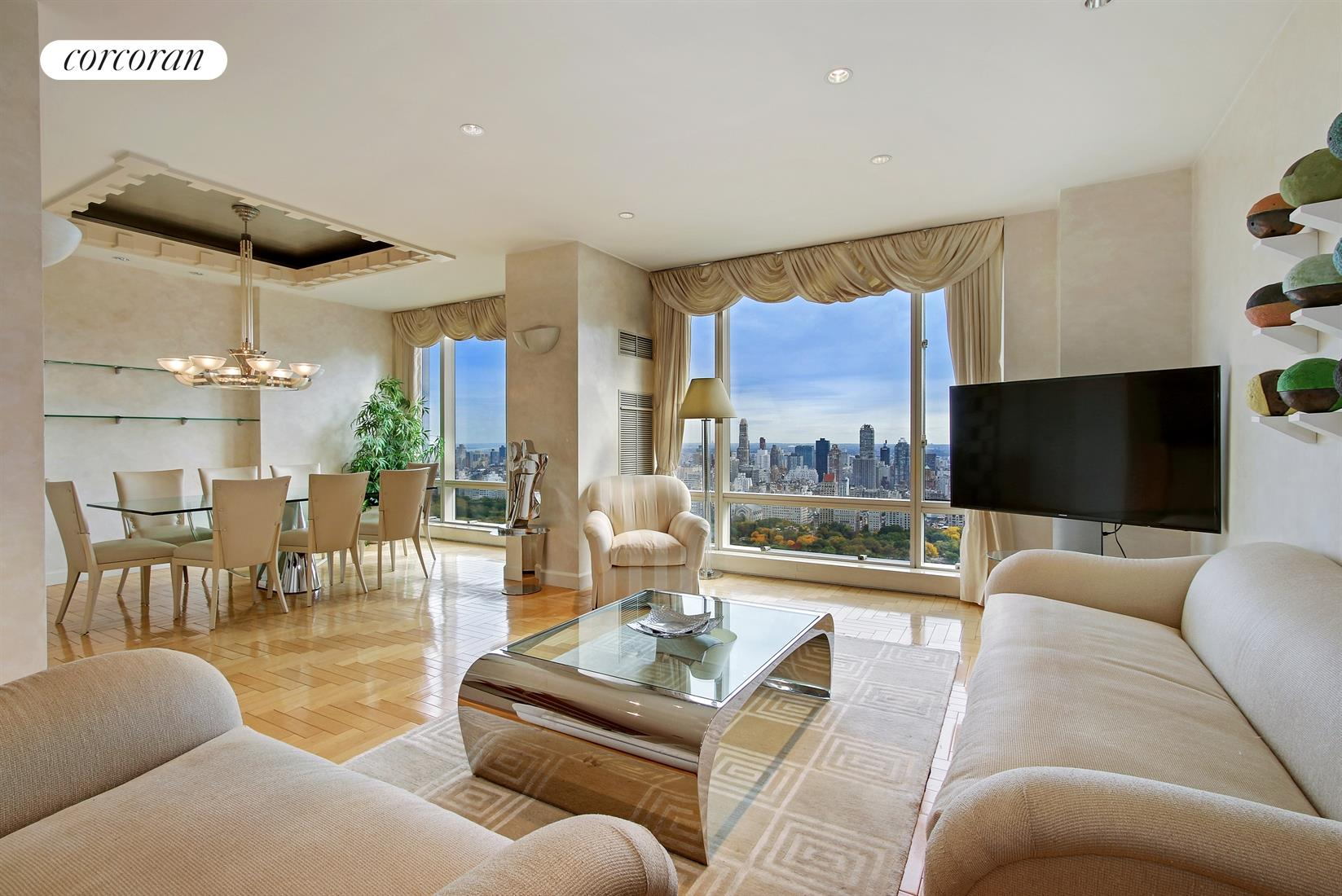 1 Central Park West, 42B, Oversized Living Room w/ AMAZING Central Park View
