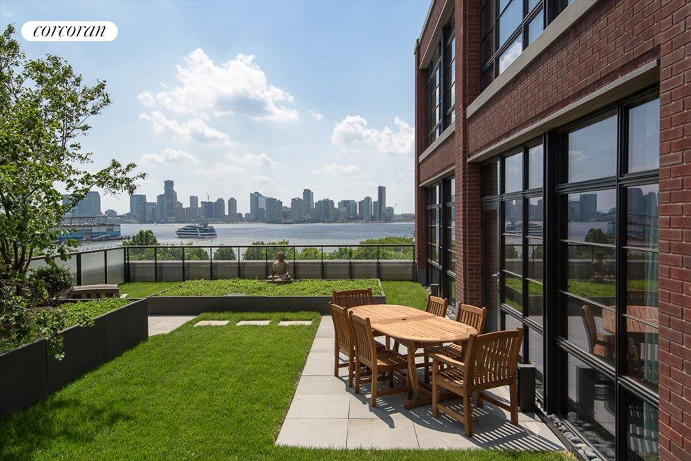 Private Terrace with Hudson River Views