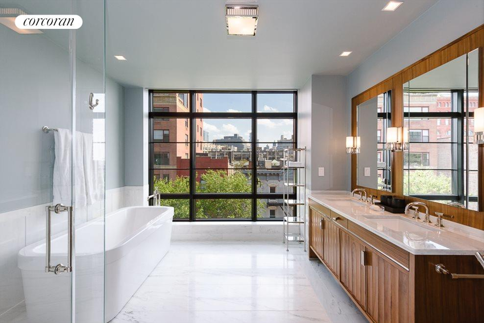 Master Bathroom with Terrace and Open South Views