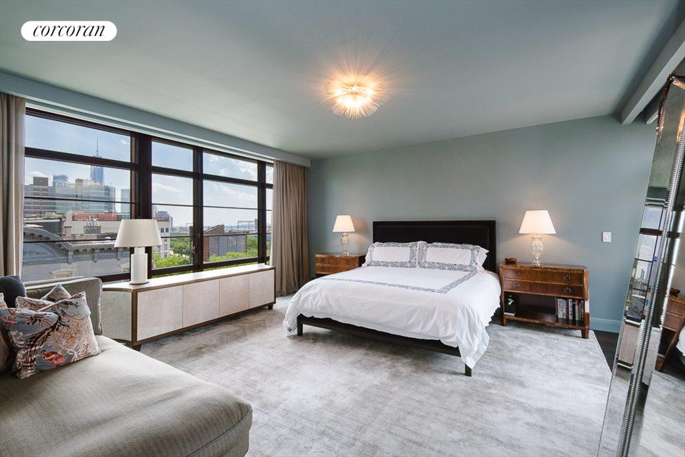 Master Bedroom with Hudson River Views