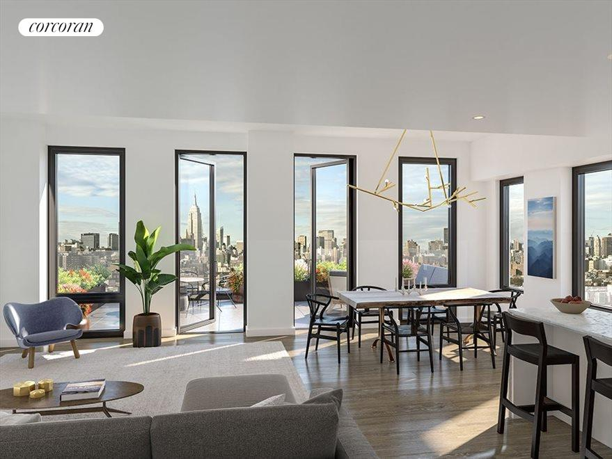 New York City Real Estate | View 287 EAST HOUSTON ST, #8B | 2 Beds, 2 Baths