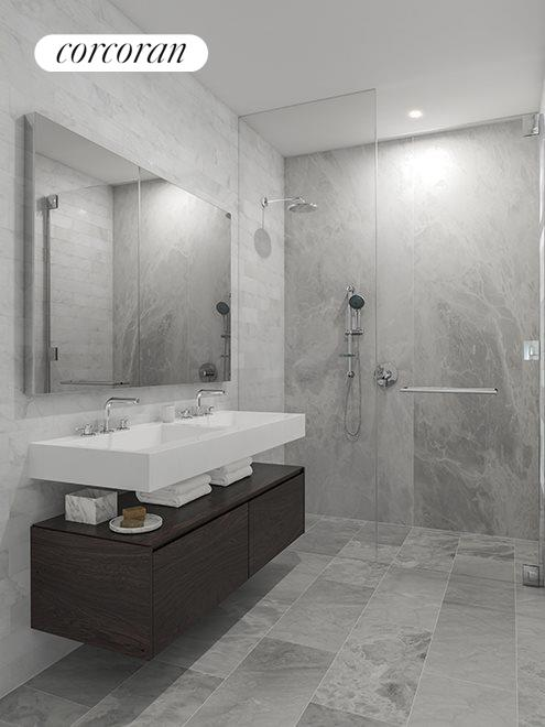 New York City Real Estate | View 287 EAST HOUSTON ST, #8B | Spa like ensuite master bathroom