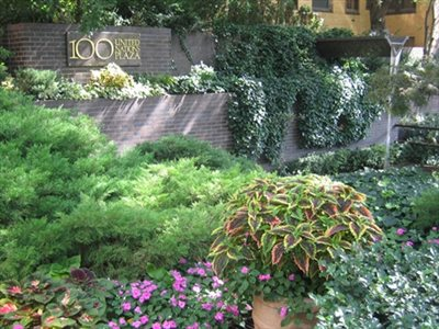 New York City Real Estate | View 100 United Nations Plaza, #50B | Some of the beautiful gardens at 100 UN Plaza