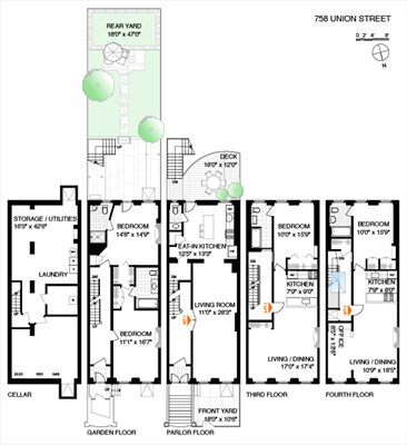 New York City Real Estate | View 758 Union Street | Floorplan