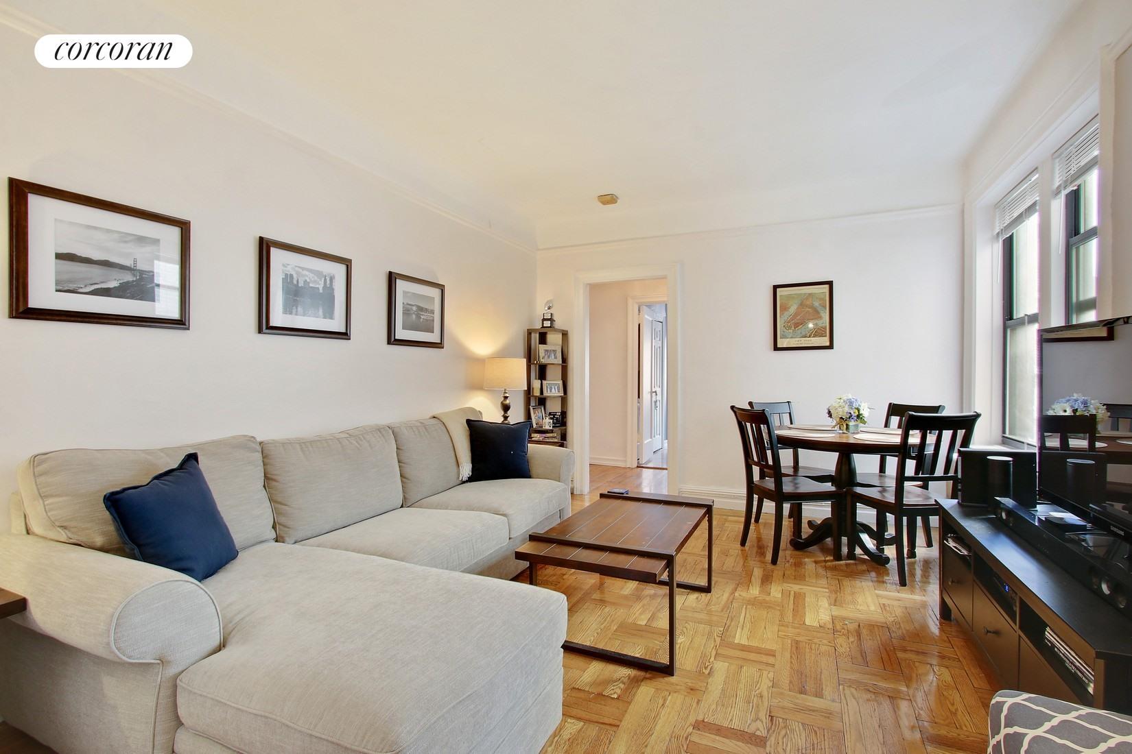 222 East 82nd Street, 4D, Living Room With 9 Foot Ceilings