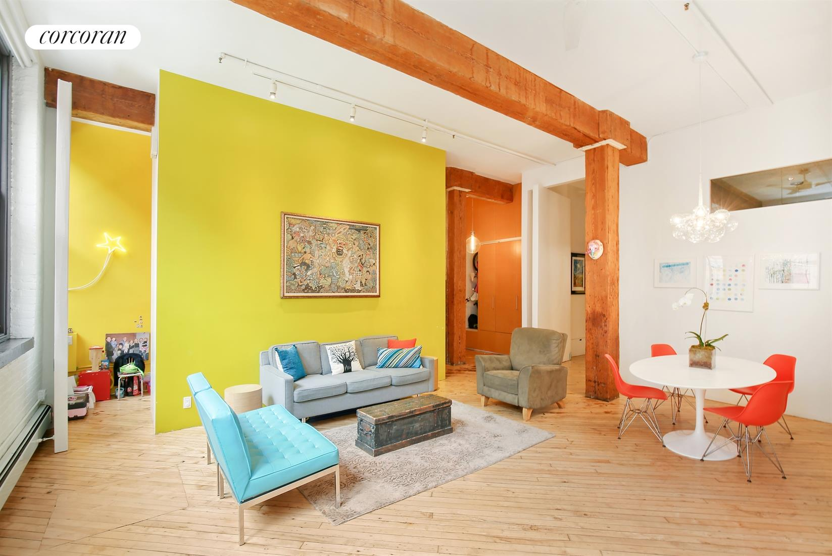 31 Washington Street, 5, Living Room with Dramatic Beams and Ceiling Height