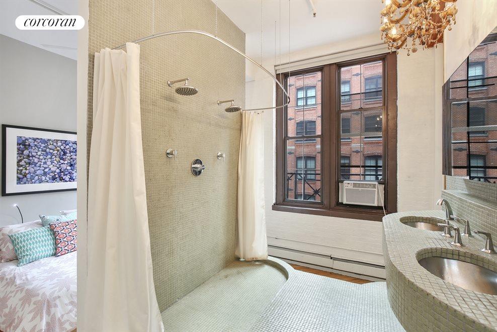 Double Shower and Windowed Bath