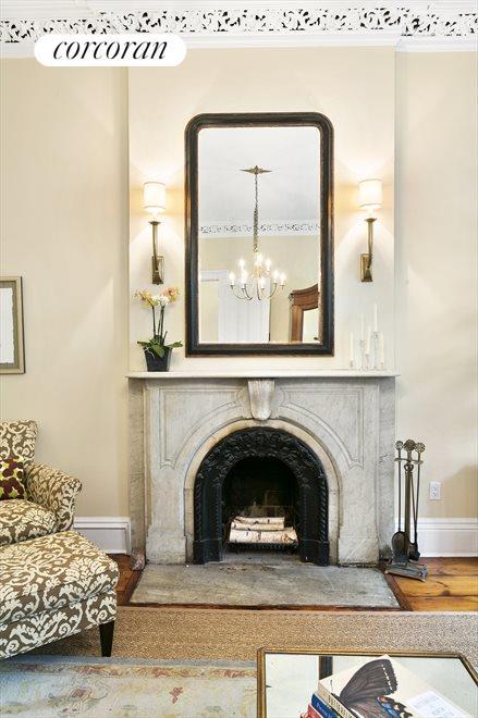 Marble Wood Burning Fireplace