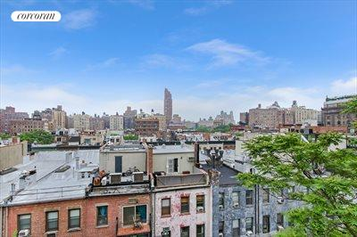 New York City Real Estate | View 123 West 74th Street, #8D | Full Sky City and rooftop Views
