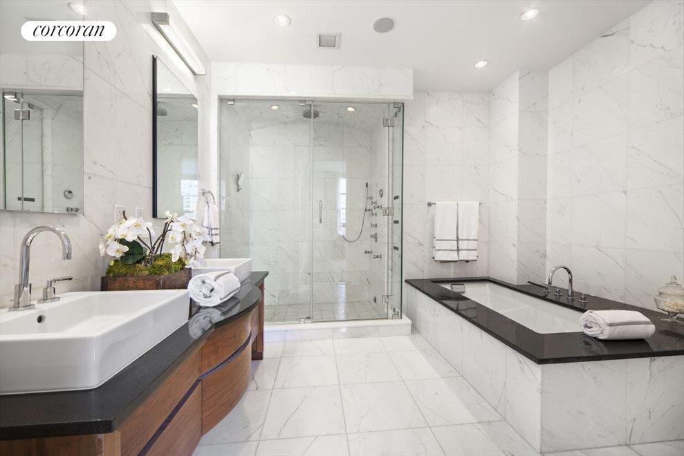 Marble and granite Master Bathroom