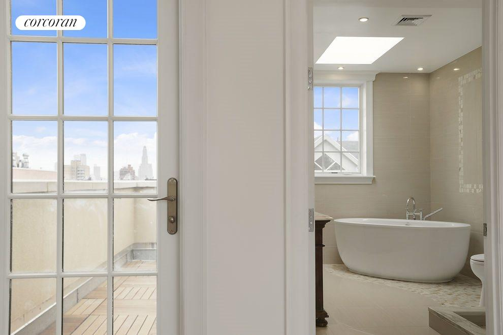 Master Bath with Deep Soaking Tub & Steam Shower