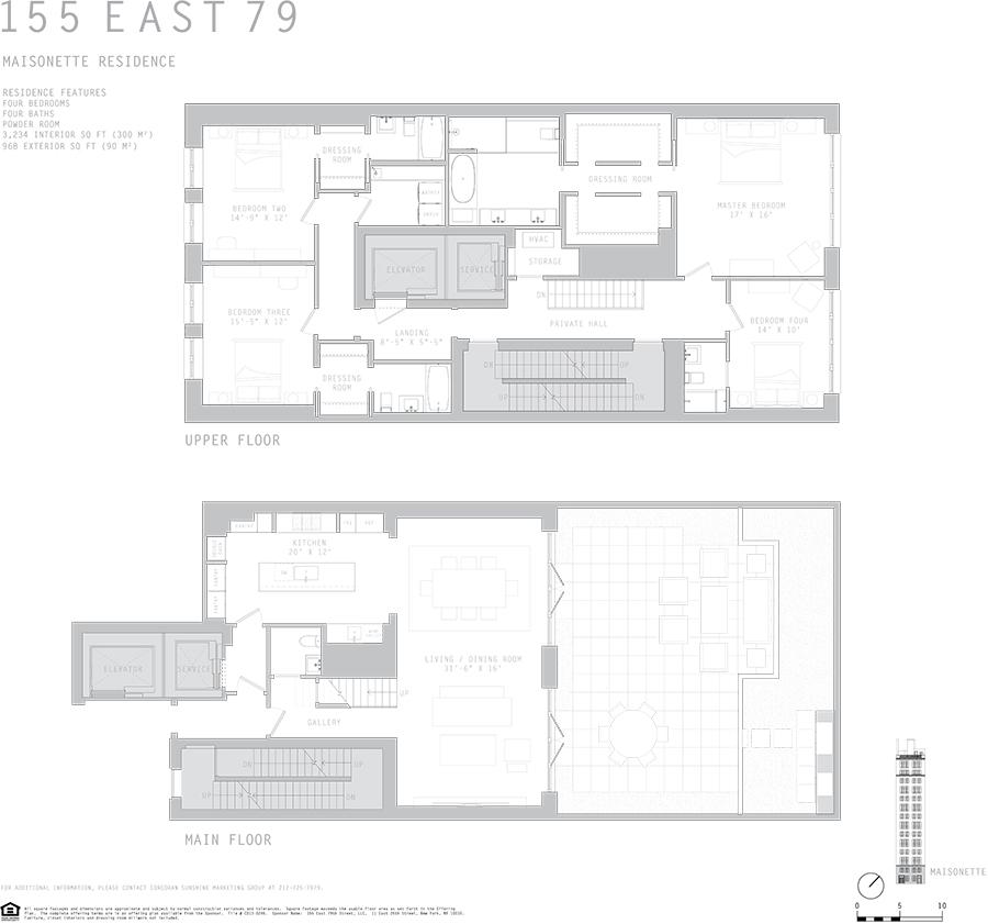 Floor plan of 155 East 79th St, MAISONETTE - Upper East Side, New York