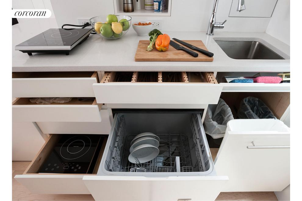 Storage and dishwasher