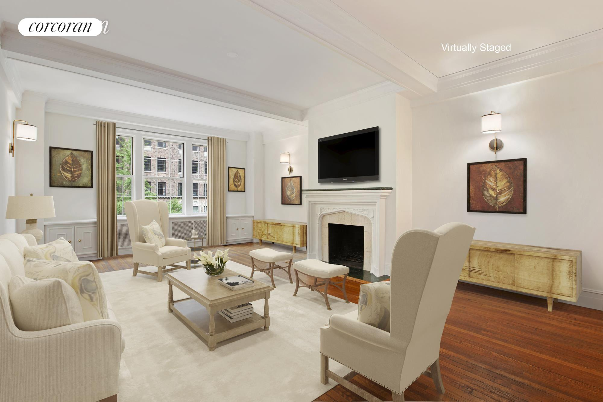 444 East 57th Street, 4A, Living Room