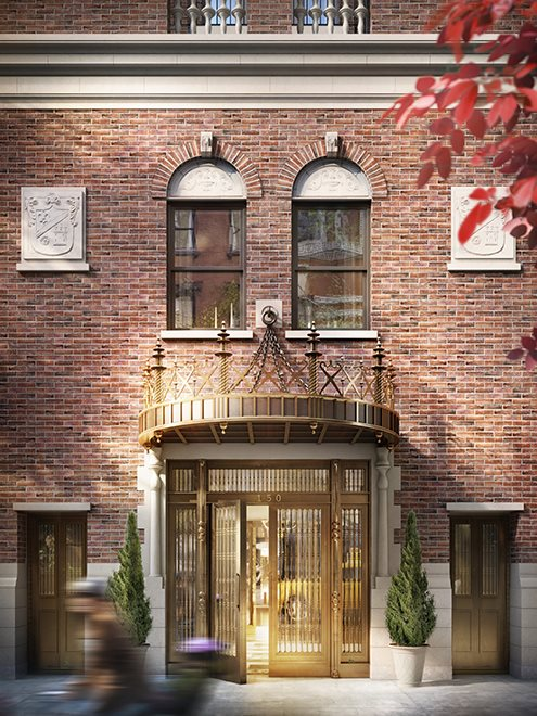 New York City Real Estate | View 150 West 12th Street, #7 W | Preserved pre-war façade with brass canopy