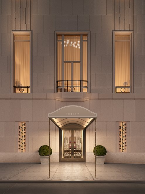 New York City Real Estate | View 30 PARK PLACE, #51E | 30 Park Place Residence Entrance