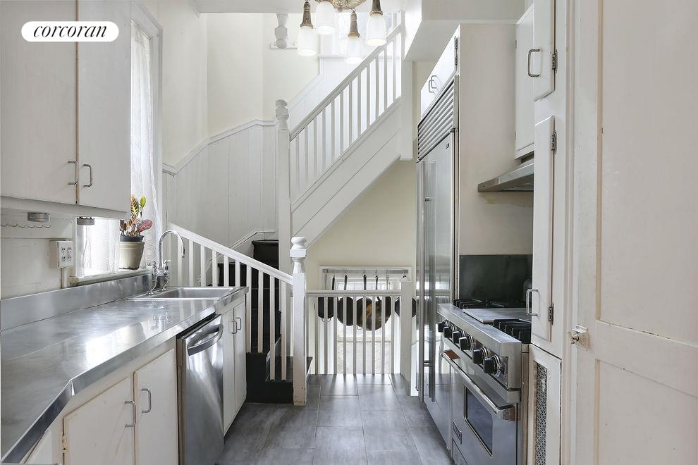 Kitchen with Back Staircase