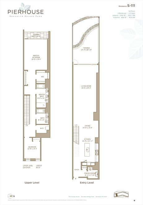 New York City Real Estate | View 130 Furman Street, #S111 | Floorplan