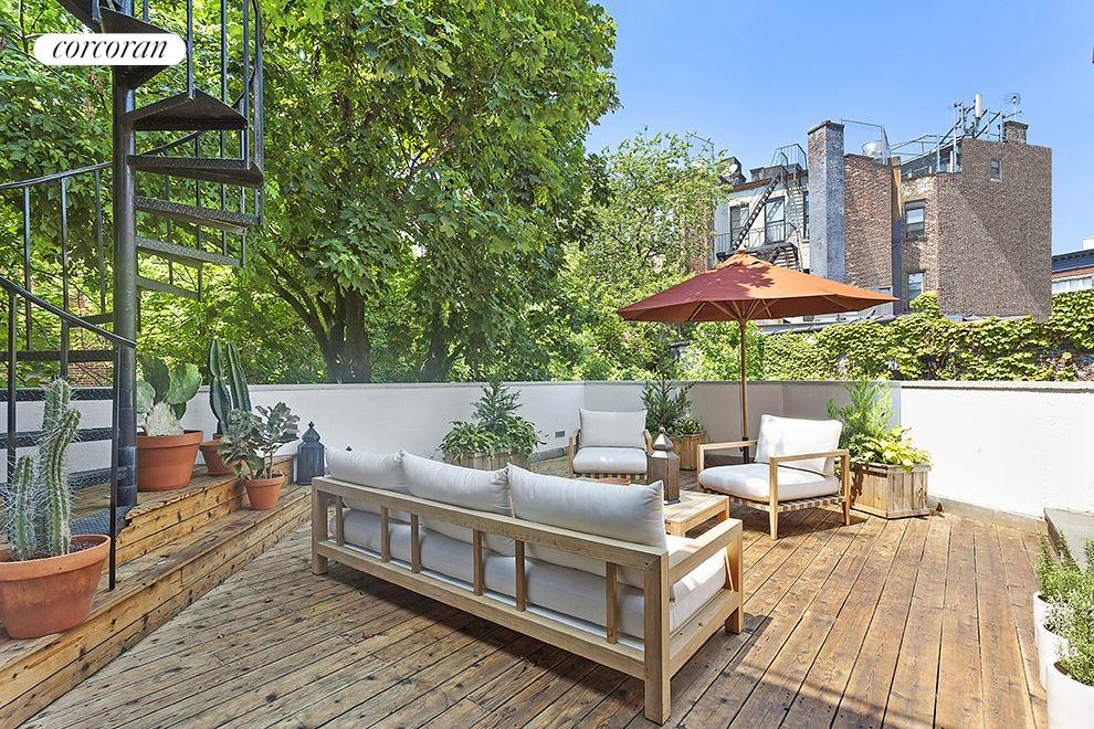 77 Prospect Place In Park Slope Large Outdoor Terrace For Entertaining