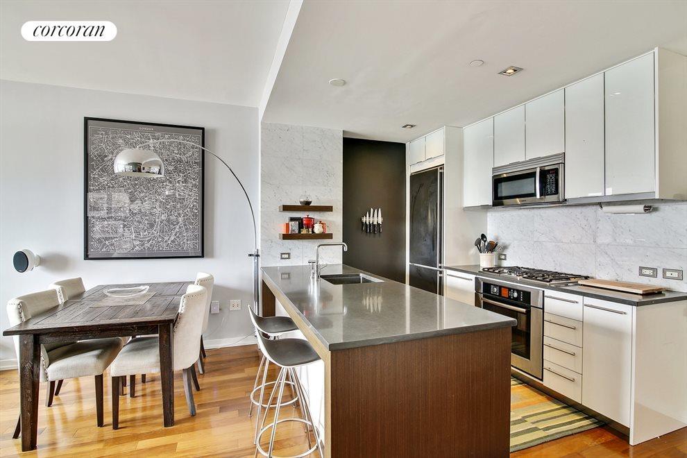 Modern Open Kitchen with Breakfast Bar