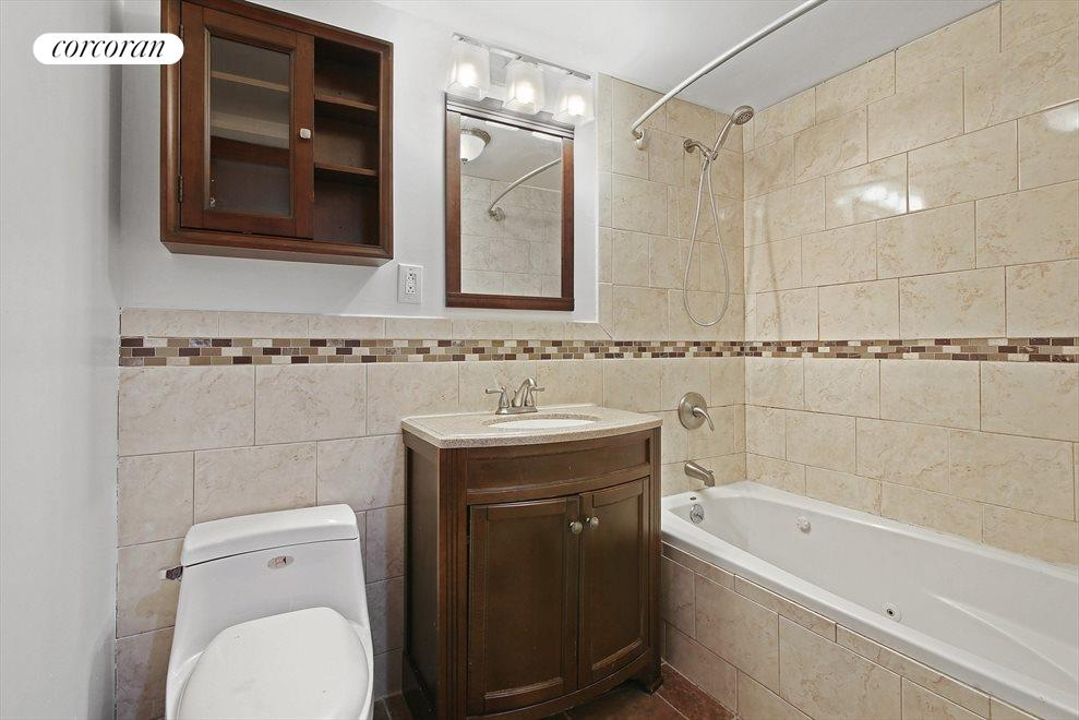 Completely Renovated Bath with Whirlpool Tub
