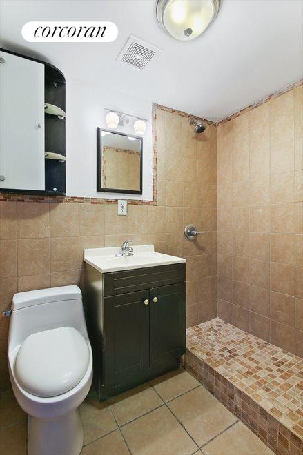 Renovated Bath w/Tiled Stall Shower