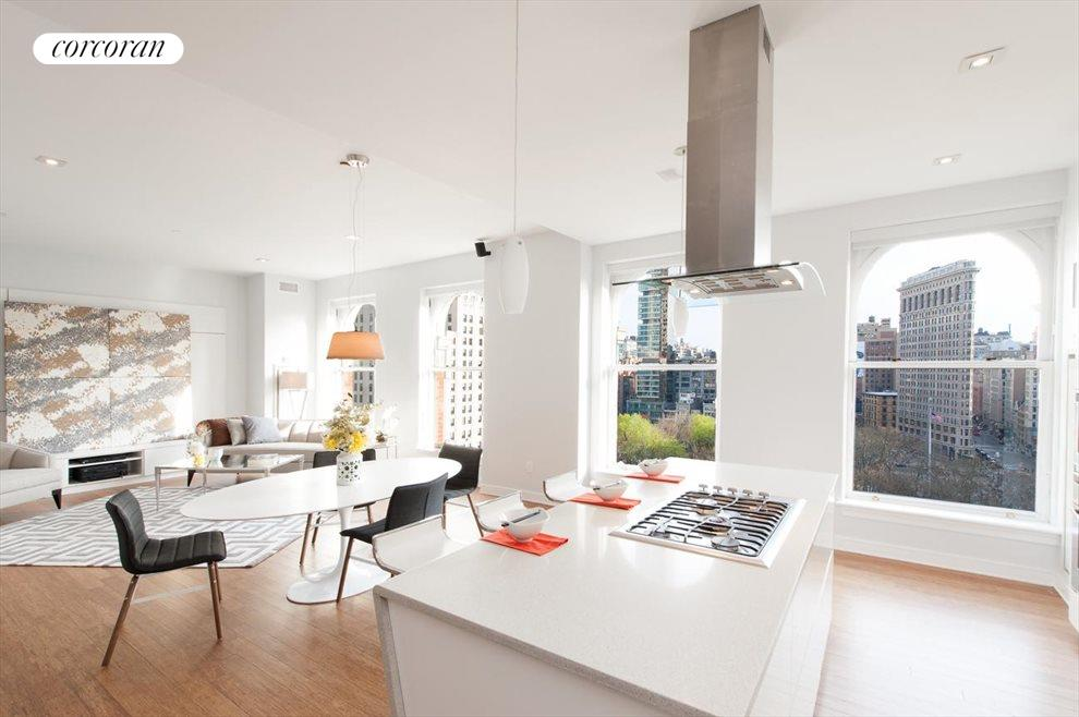 Open Living into Kitchen