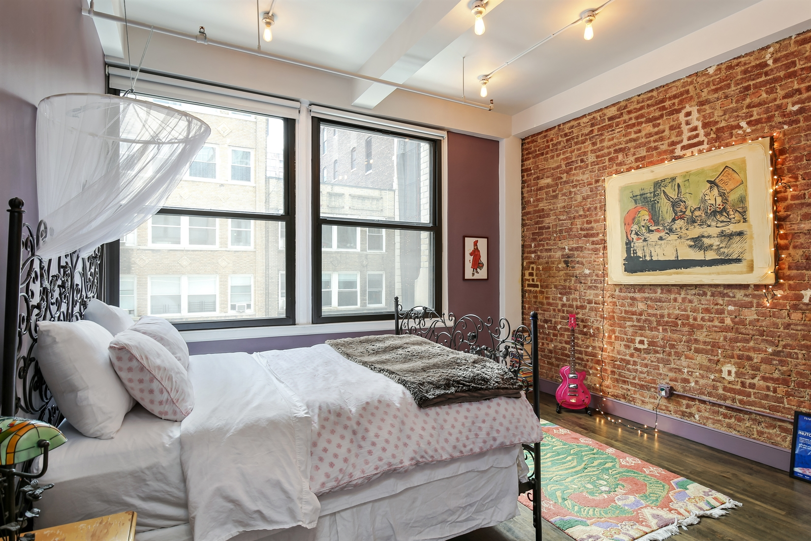 144 West 27th Street, 3F, Lofty, north facing living room