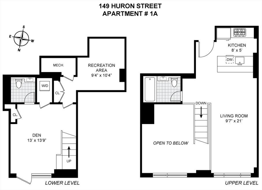 New York City Real Estate | View 149 Huron Street, #1A | Floorplan