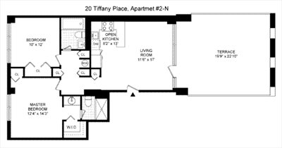 New York City Real Estate | View 20 Tiffany Place, #2N | Floorplan