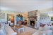 28 Old Montauk Highway, very comfortable living room with stone fireplace