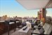 270 West 17th Street, 19C, Enormous terrace set up as outdoor living room