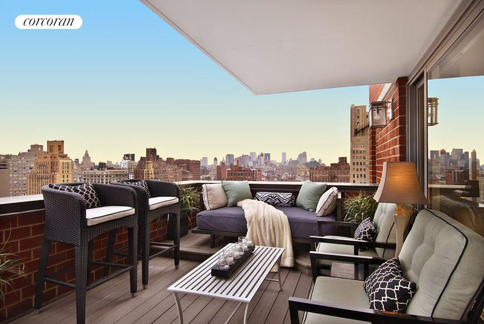 Enormous terrace set up as outdoor living room