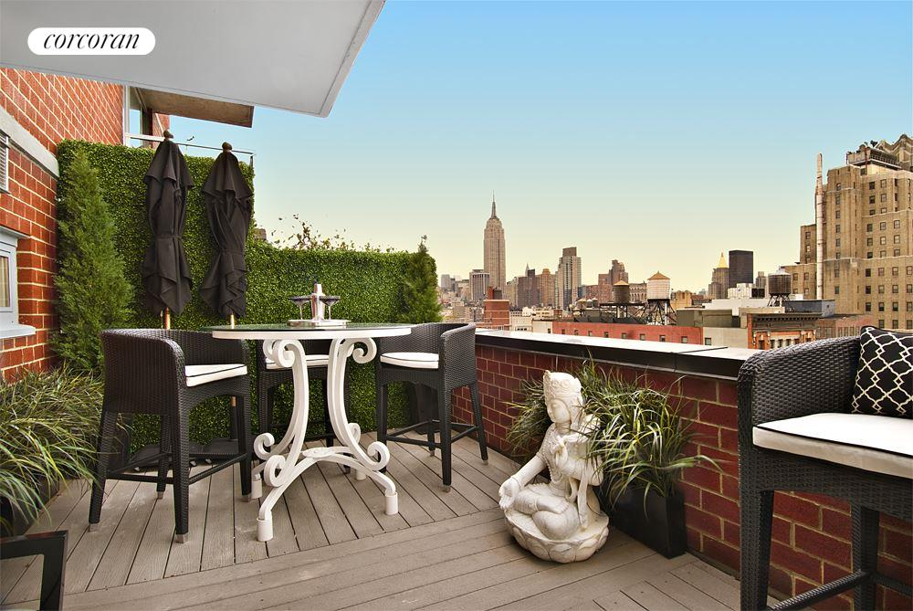 270 West 17th Street, 19C, Stunningly decorated living room with open views