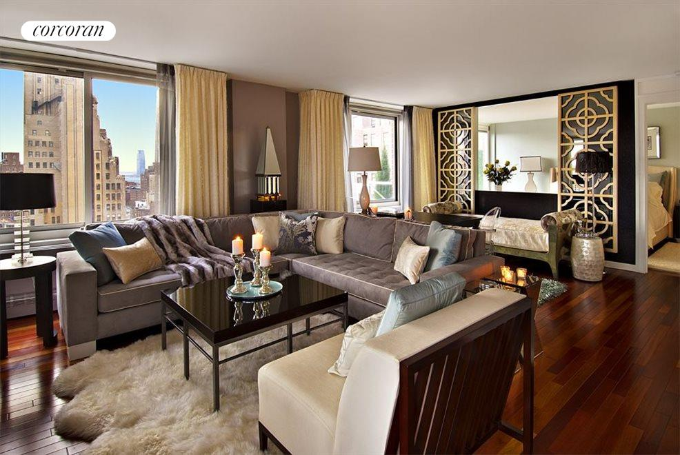 Stunningly decorated living room with open views