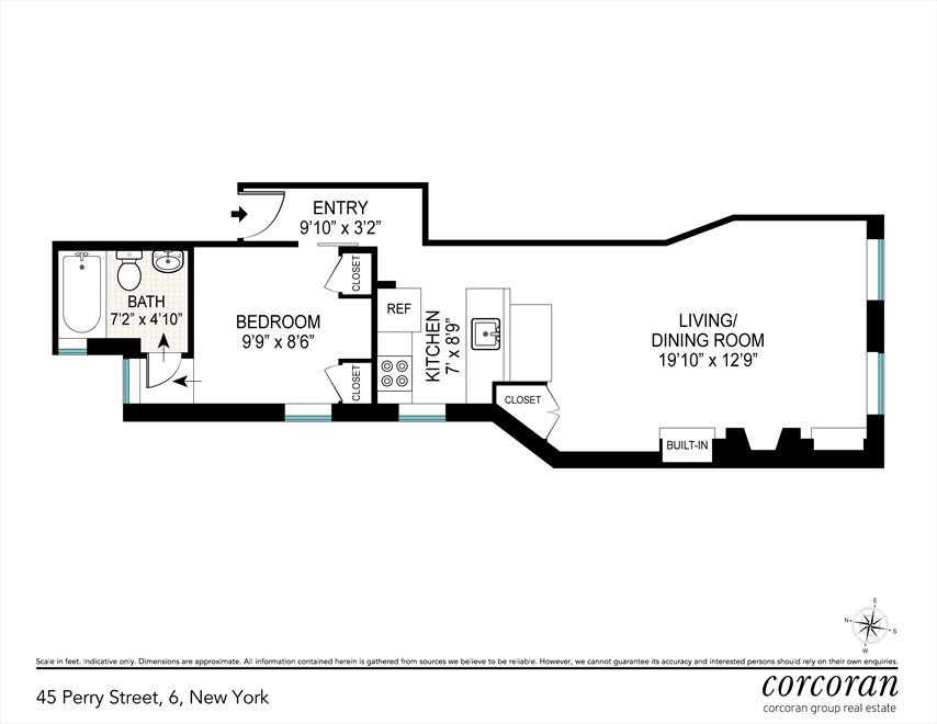 New York City Real Estate | View 45 Perry Street, #6 | Floorplan