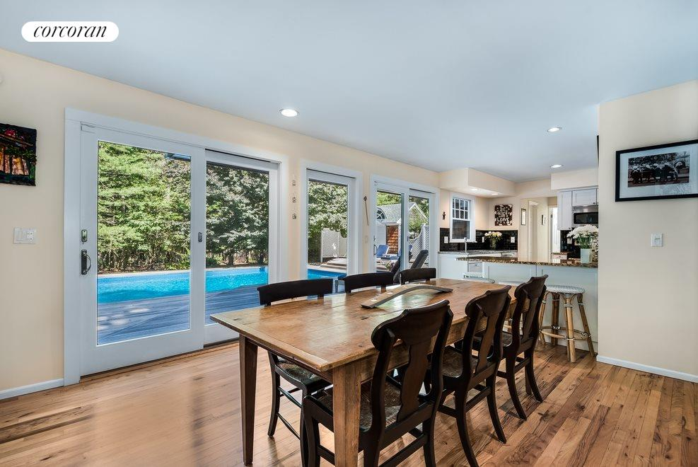 Open dining and kitchen