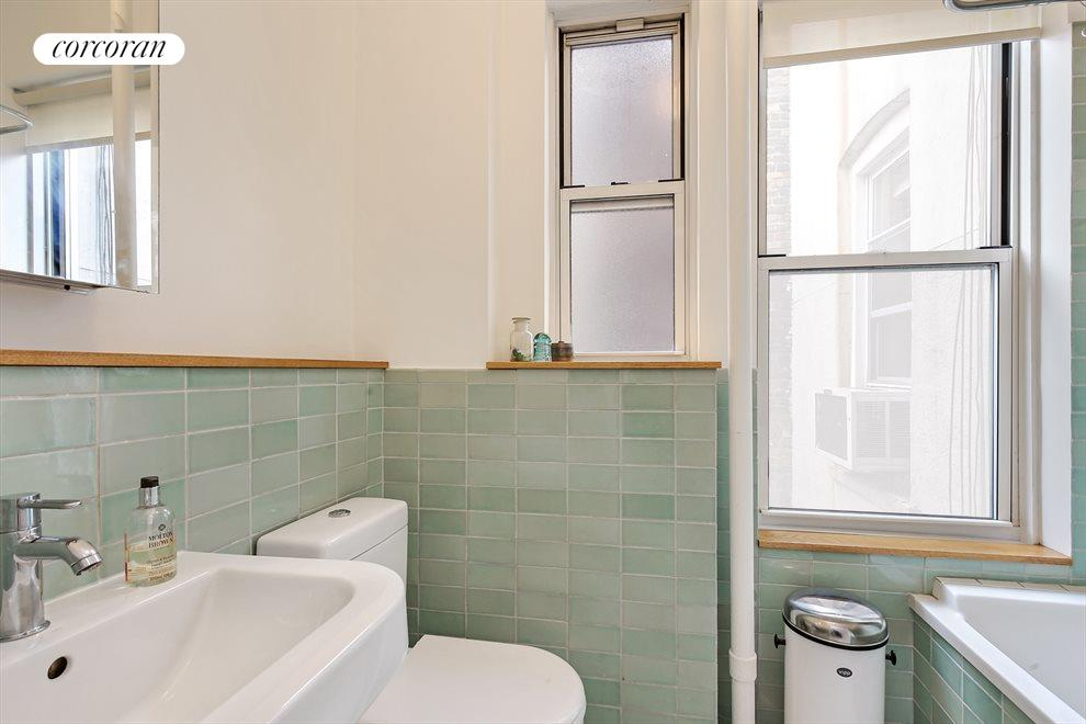 New York City Real Estate | View 204 West 10th Street, #28 | Beautifully Tiled Bathroom