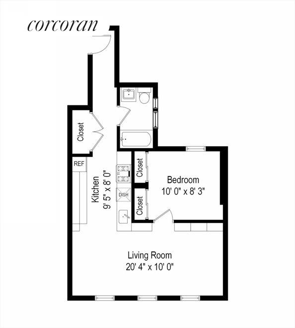 New York City Real Estate | View 204 West 10th Street, #28 | Floor Plan