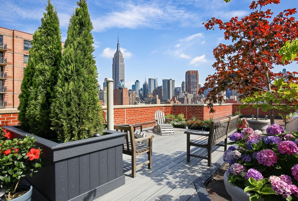 201 East 25th Street, 9G, building roof deck
