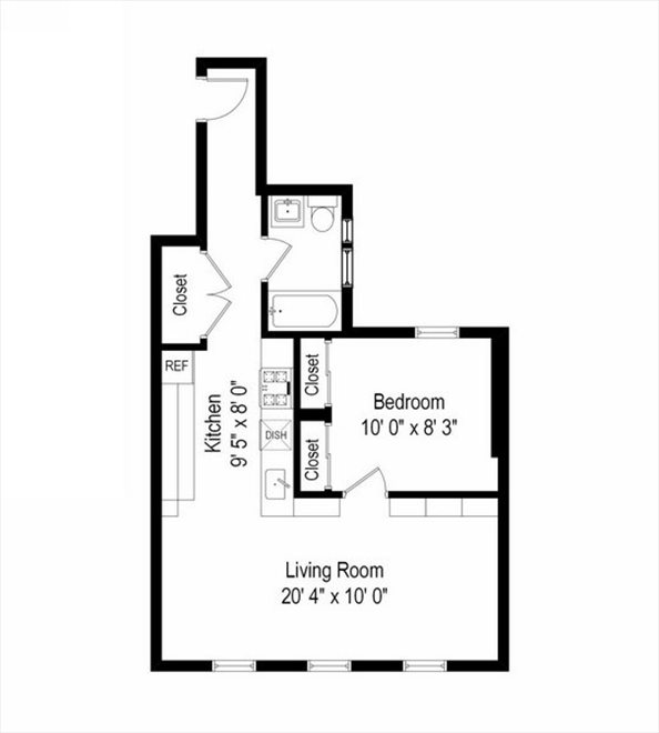 New York City Real Estate | View 204 West 10th Street, #28 | Floorplan