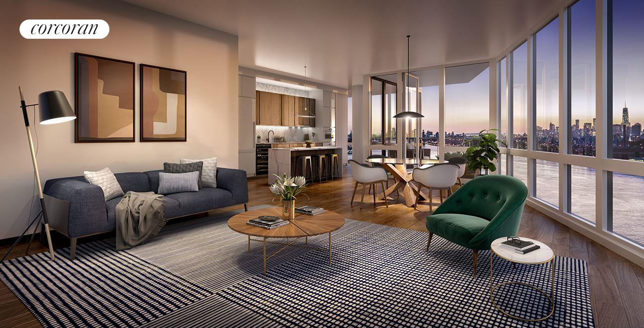 Condominium for Sale at The Greenpoint, 21 India Street 39-A 21 India Street Brooklyn, New York 11222 United States